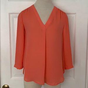 3/4 length sleeve V- neck tunic/ blouse- XS